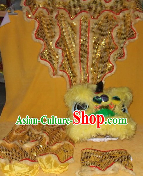 One Person Chinese New Year Parade Children Size Lion Dance Costumes for Children