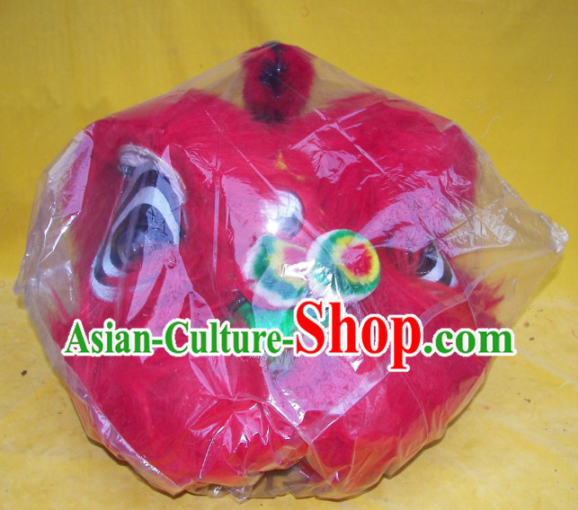 One Person Chinese New Year Parade Red Children Size Lion Dance Costumes for Children