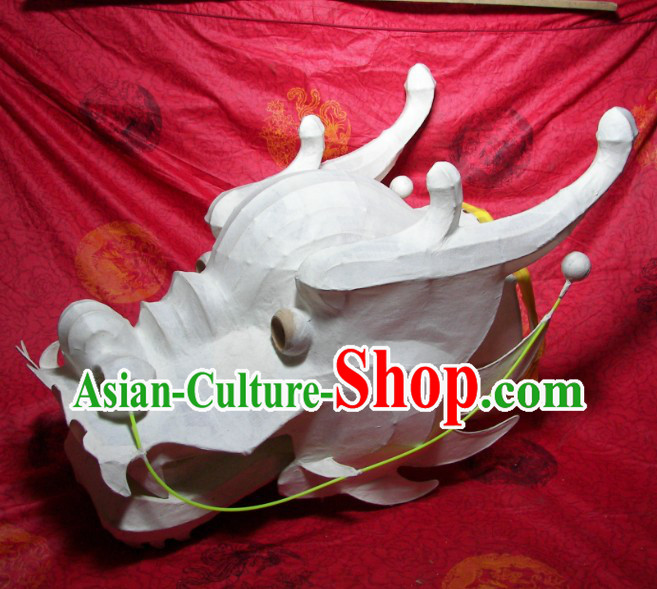 Handmade Bamboo Framework Southern Dragon Dance Head for DIY Painting Creation