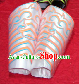 Silver Professional Competiton and Performance Dragon Dancer and Lion Dance Legs Wrappings