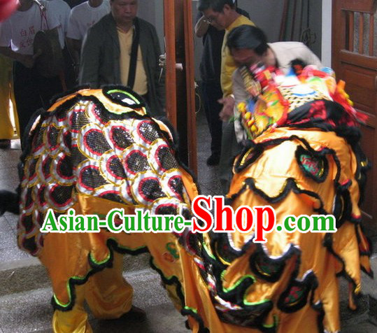 Ancient Chinese Style Kylin Dancing Head and Body Costumes Complete Set