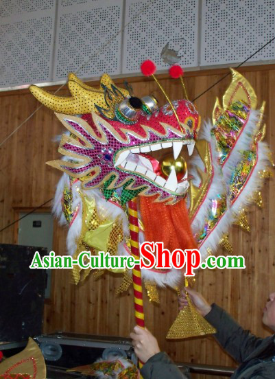Chinese Festival Celebration Parade Hands Holding Dragon Dance Prop
