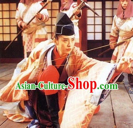 Dongfang Bubai Fictional Character in the Wuxia Novel Costumes and Hat Complete Set