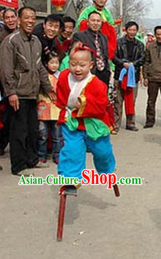 Traditional Chinese Folk Stilt for Children