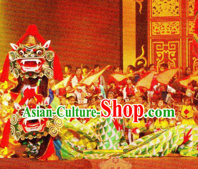 Traditional Chinese Handmade Kylin Dance Costume Complete Set