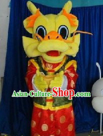 Chinese New Year Dragon Character Walking Mascots Costumes Complete Set