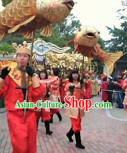 One Person Holding Fish Dance Costume Set