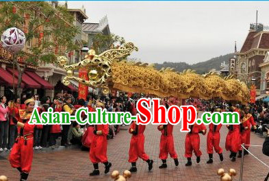 Abstract Style Supreme Golden Dragon Dance Costumes Complete Set