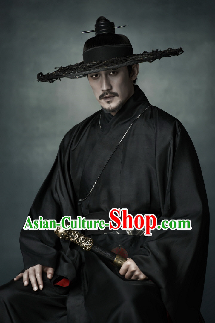 Arang and the Magistrate Korean Hanbok Clothes and Hat Complete Set for Men