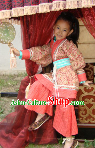 Traditional Chinese Hanfu Outfit Clothing for Kids