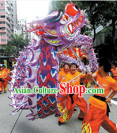 Chinese Lunar New Year Supreme Illuminated Supreme Dragon Dance Equipment Complete Set