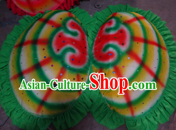Chinese New Year Festival Celebration Clam Dance Props Costumes Complete Set