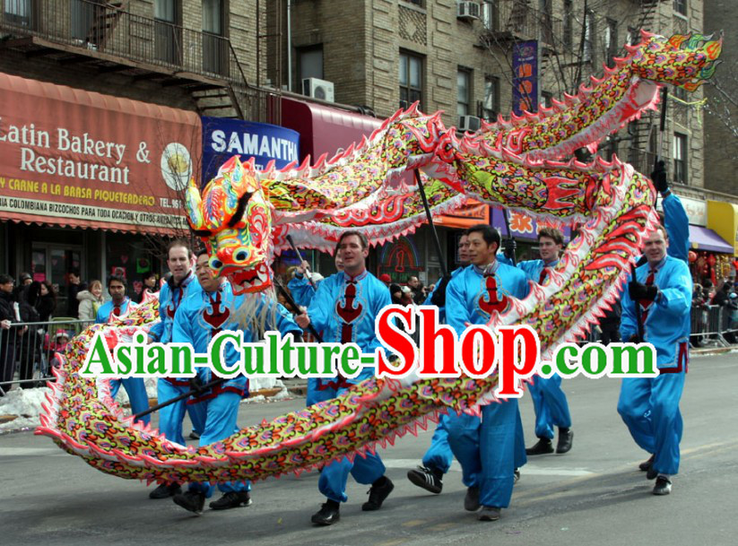Traditional Chinese Southern Luminous Dragon Dancing Costumes Complete Set