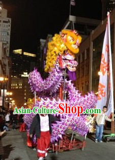 New Year Night Parade Celebration Luminated Dragon Dancing Costumes Complete Set