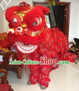 Supreme Red Fut San Lion Dance Costumes Complete Set