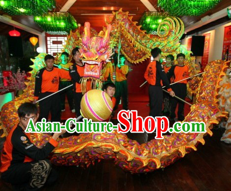 Glow in the Dark Ultra Violet Dragon Dance Equipments Complete Set