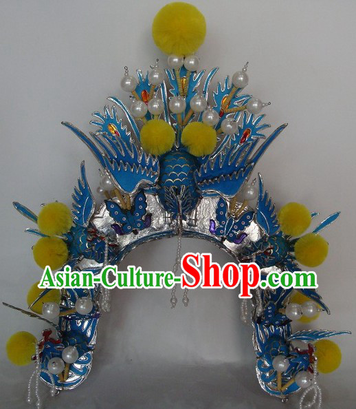Traditional Chinese Peking Opera Female General Phoenix Helmet
