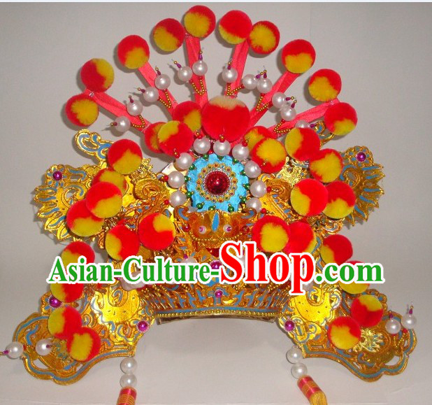 Traditional Chinese Peking Beijing Opera Hat Headwear for Men