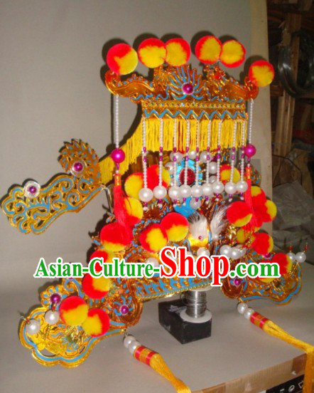 Traditional Chinese Beijing Opera Jade Emperor Headgear for Men