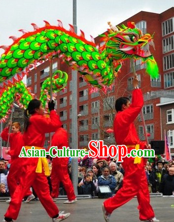 Professional Competition and Performance Ultraviolet Dragon Dancing Costumes Complete Set