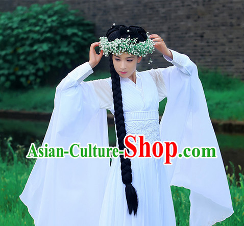 Xiao Long Nv White Clothes Complete Set for Women