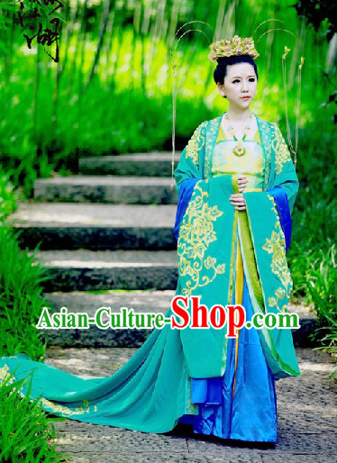 Chinese Imperial Princess Dresses and Hair Accessories Complete Set