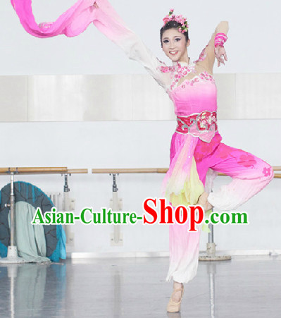 Chinese Long Sleeve Dance Costumes Complete Set