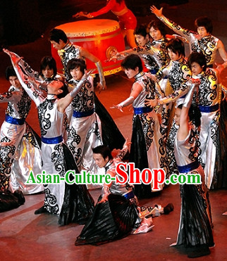 Chinese Folk Ethnic Dance Costumes for Men