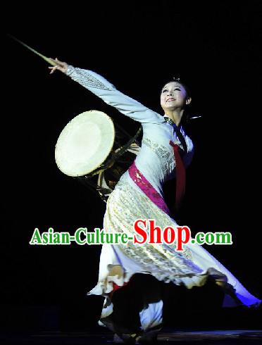 Chinese Classical Drum Dance Costumes Complete Set