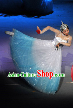 Professional Stage Performance Dance Costumes and Headwear for Women