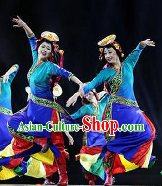 China Tibetan Clothes and Headwear Complete Set for Girls