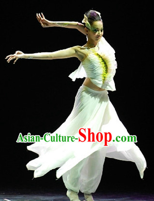 Professional Solo Dance Costumes and Headwear Complete Set for Women