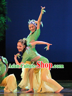 Professional Team Dancing Costumes and Headwear Complete Set for Women