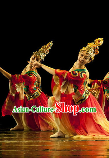 Chinese Classical Costumes and Headdress Complete Set for Women