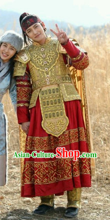 Ancient Korean Prince Armor Clothes Complete Set for Men