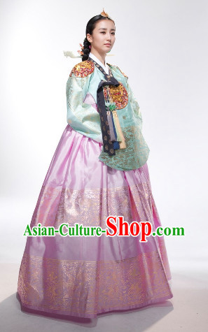 Ancient Korean Imperial Clothing and Headpieces Complete Set