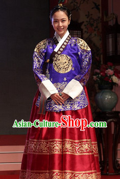 Traditional Korean Imperial Hanbok Dresses Complete Set