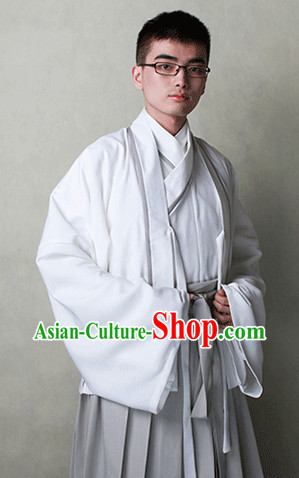 Traditional Chinese Han Fu Clothes Complete Set for Men