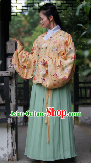 Ancient Chinese Ming Dynasty Jacket and Skirt for Women