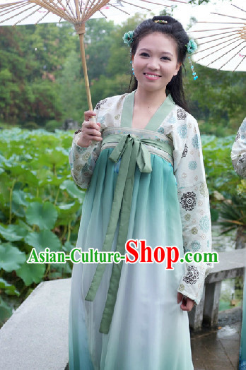 Ancient Chinese Tang Dynasty Skirt Dress for Women