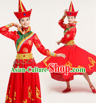 Professional Chinese Mongolian Dancewear Complete Set for Women