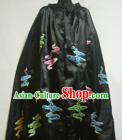 Chinese Stage Performance Black Cape