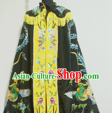 Chinese Black Embroidered Mantle