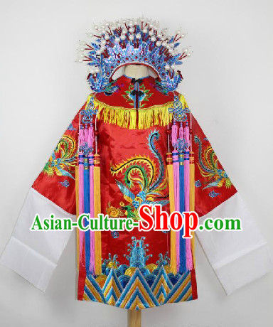 Ancient Chinese Beijing Opera Phoenix Costumes for Kids