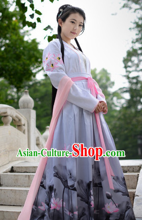 Ancient Chinese Poet Costumes Complete Set
