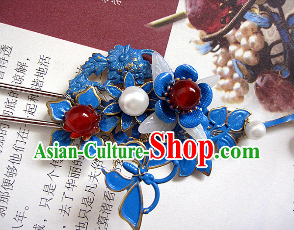Chinese Traditional Princess Handmade Flower Hair Clasp