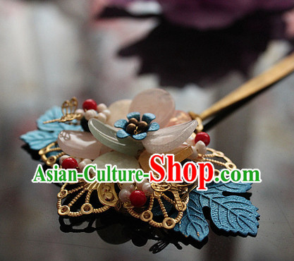Chinese Traditional Handmade Dragonfly Flower Hair Clasp for Ladies