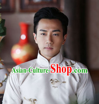 China Traditional Long Mandarin Robe for Men
