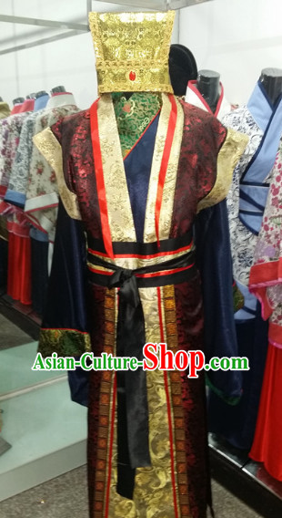 Ancient Chinese Court Dress and Hat for Men
