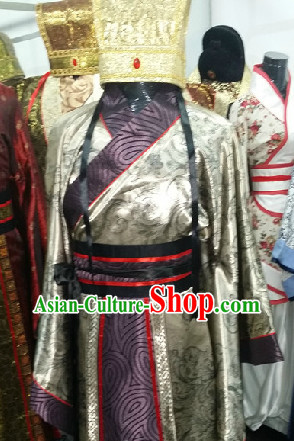 Ancient Chinese Court Costumes and Hat for Men